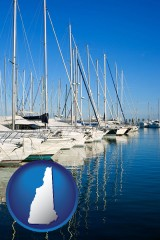 new-hampshire sailboats in a marina