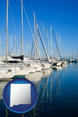 new-mexico sailboats in a marina