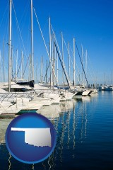 oklahoma sailboats in a marina